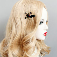New 1 Pair Fashion Wings Spider Hairpins Halloween fashion Hair Clips Girls Costume Dress-up 2018(China)