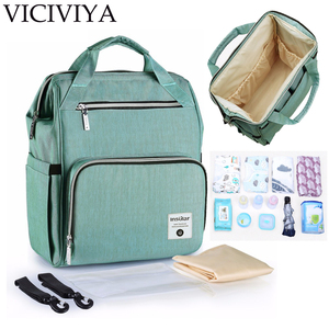 VICIVIYA Mummy Maternity Nappy Backpack Bag Large Capacity Mom Baby Bolsa Multifunction Outdoor Travel Diaper Bags For Baby Care