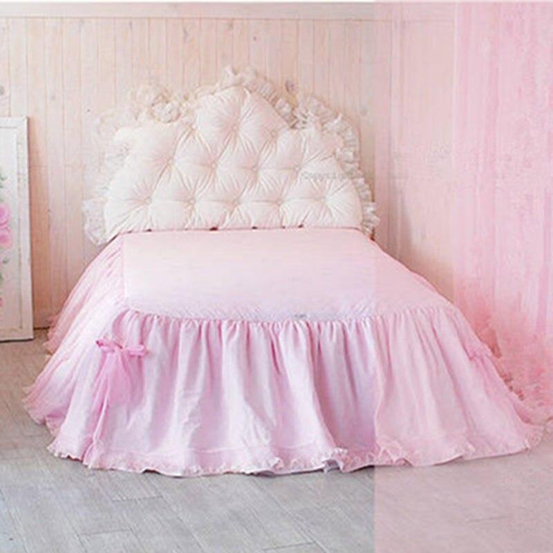 drap housse de luxe Top princesse literie de luxe drap housse dentelle fil jupe de lit  drap housse de luxe