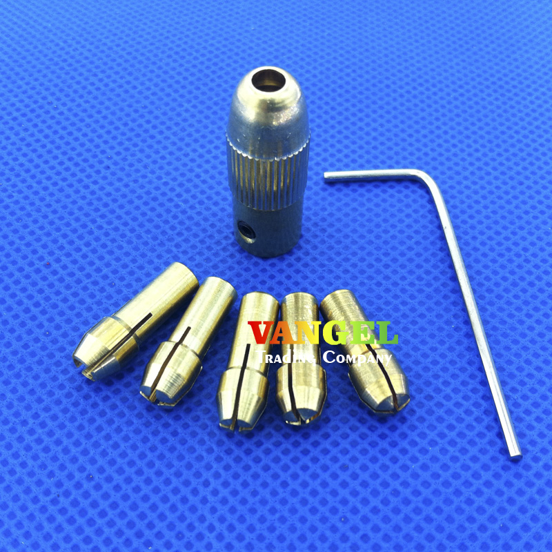 FitSain--Fit For motor shaft 2.3mm mini Electric Drill Bit Collet Micro Twist Drill Chuck Set 0.5-3mm  new copper chuck with 5pc brass collets set for 0 5 3 17mm micro replaceable twist drill bit fit 2 3mm electric motor shaft
