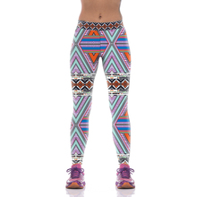 NEW KYK1013 Girl Women National Plaid Striped Floral 3D Prints High Waist Running Fitness Sport Leggings Jogger Yoga Pants Plus