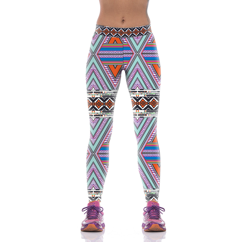 3cc28c1ddd Nueva kyk1013 Girl mujeres nacional Plaid striped floral 3D imprime alta  cintura Correr fitness deporte Leggings Jogger Pantalones de yoga más