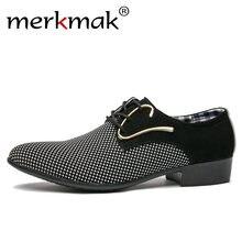 Merkmak de cuero de los hombres zapatos de oficina de los hombres vestido de  traje de zapatos de estilo italiano de boda Casual . 49b0f720ee7b