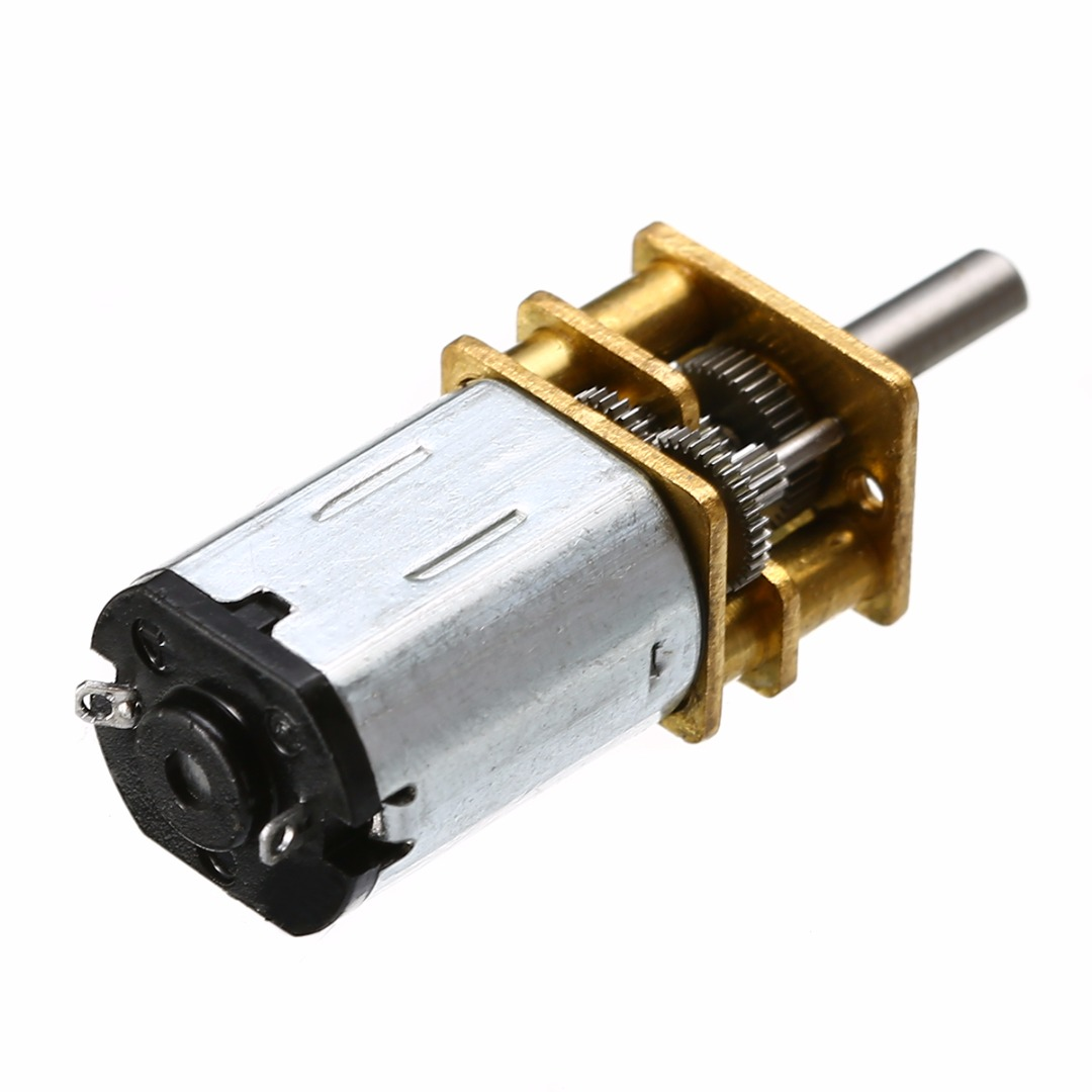 DC 6V 30RPM <font><b>N20</b></font> Micro Speed Reduction Gear Motor with Metal Gearbox <font><b>Wheel</b></font> MayitrFor RC Car Robot Model image