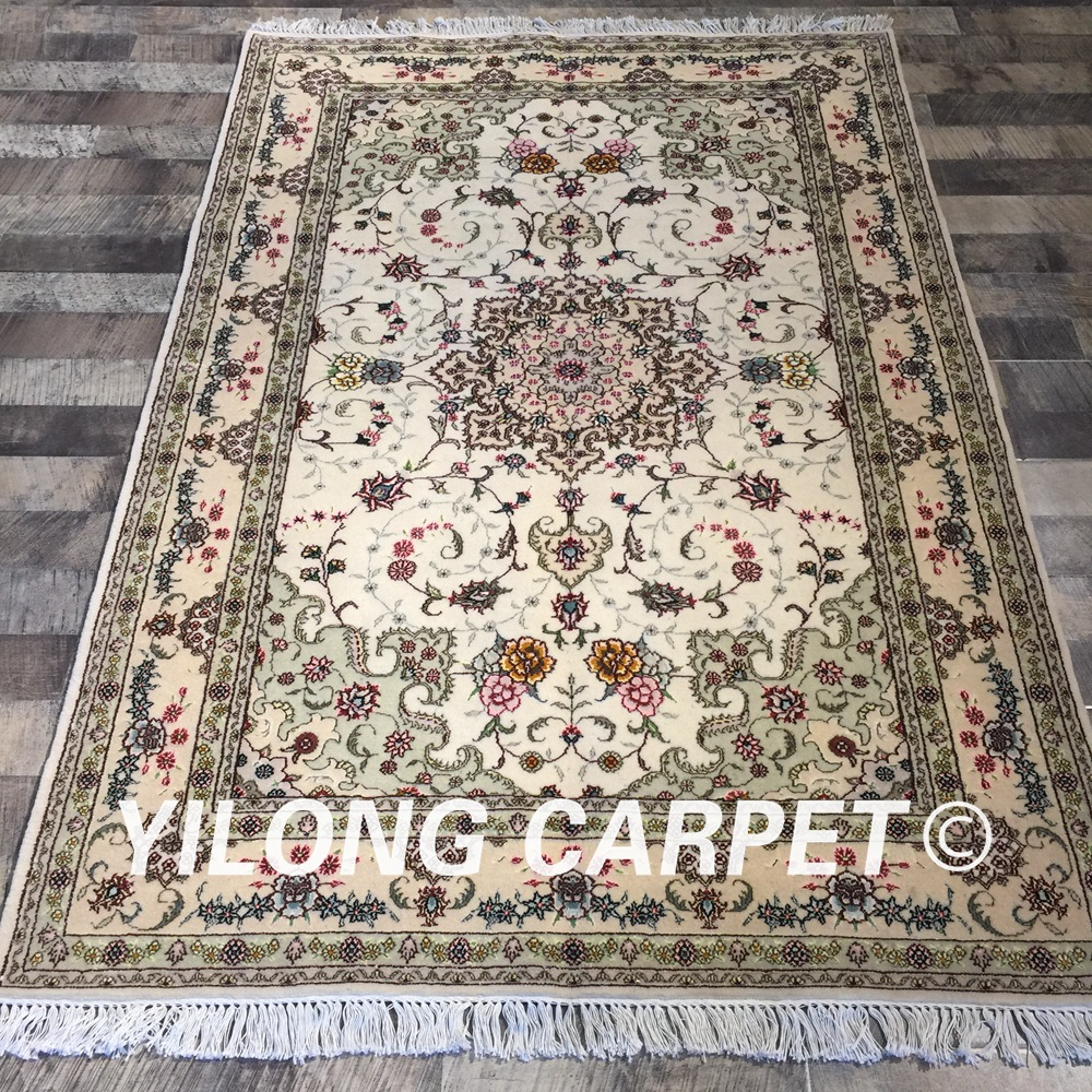 Chinese Hand Knotted Wool Rugs.Us 2880 0 Yilong 4 X6 Classic Chinese Handknotted Floral Beautiful Oriental Rugs Wool Silk Hand Made Carpet Wy2046s4x6 In Carpet From Home