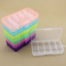 10 Grids Compartment Plastic Adjustable Boxes Craft Case Jewelry Box Beads Pills Nail Art Storage Box Organizer(China)