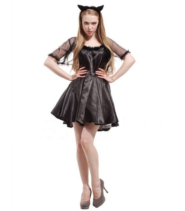 Free shipping!!Costume party, HALLOWEEN, Christmas parties, COSPLAY suit, sexy black cat female clothing