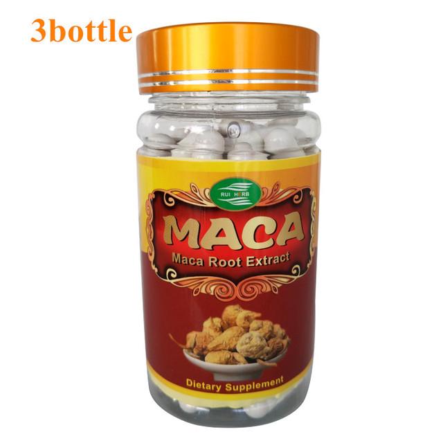 3 Botella de Extracto de Raíz de Maca Polvo de Extracto de 500 mg x 270 Cápsulas de Alta Resistencia La Libido Sexual Y Apoyo