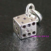 Thailand imports, the implementation of 925 silver cube miniature dice Silver Pendant