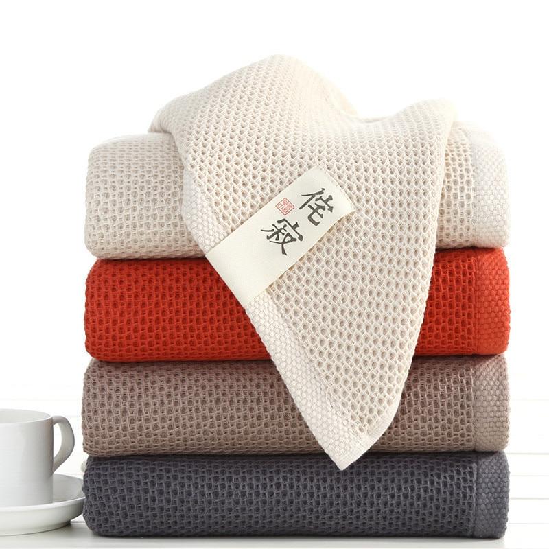 70x140 cm elegante absorbente 100% algodón baño toallas de baño sólidas toalla cómoda suave para adultos