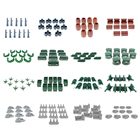 10pcs Plastic Mini Military Sand Scene Model Toy Soldier Army Men Accessories Tank Forts Shelters Sandbag Bunkers Rockery