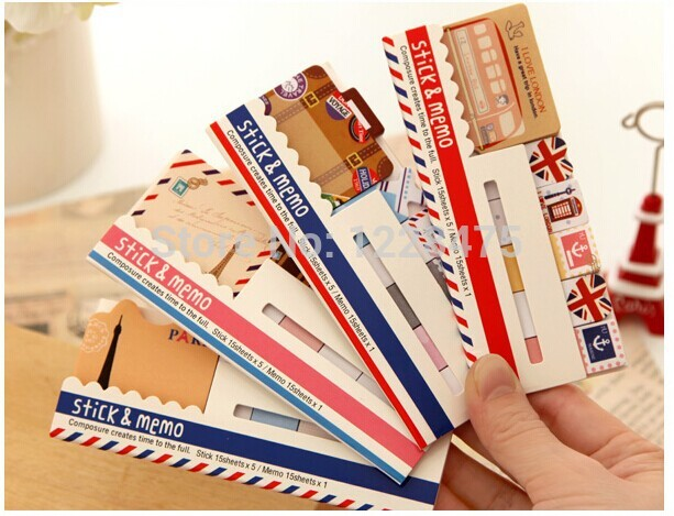 1PCS/Lot NEW vintage travel London & Paris & animals sticky notepad Memo message post marker Removable adhesive paper