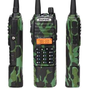 Image 5 - Baofeng UV 82 كامو اسلكية تخاطب 8 واط قوية UHF VHF ثنائي الموجات 3800 mAh 10 كجم طويلة المدى UV 82 للصيد المشي اتجاهين راديو