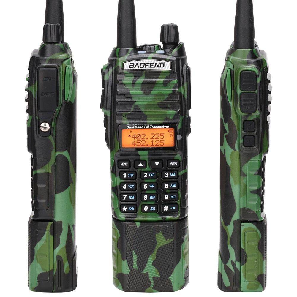 Image 5 - Baofeng UV 82 camo Walkie Talkie 8Watt powerful UHF VHF Dual Band  3800mAh 10KM Long Range UV 82 for hunting hiking Two Way RadioWalkie  Talkie