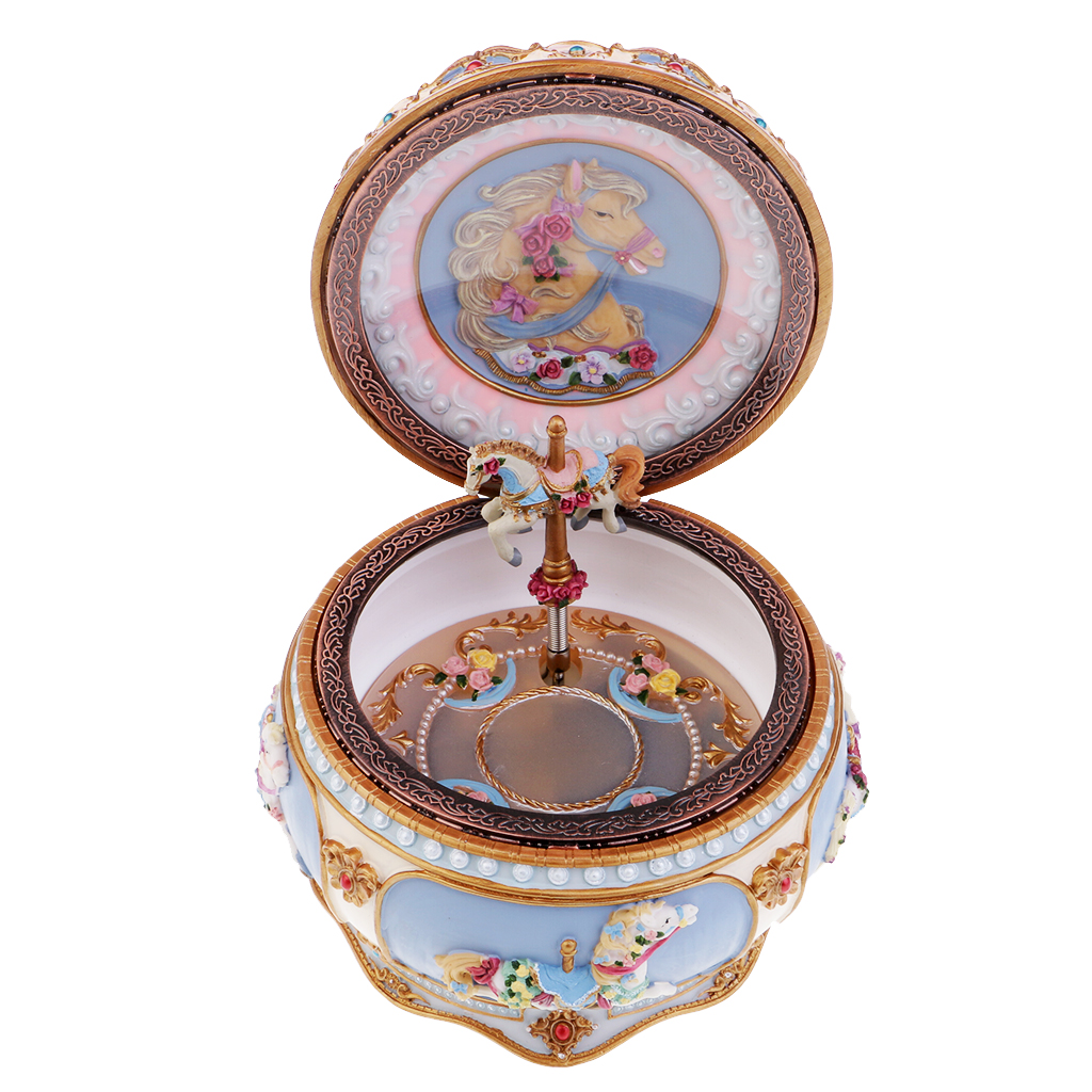 Carousel Music Box Colorful Led Musical Box Birthday Gift Castle in the Sky