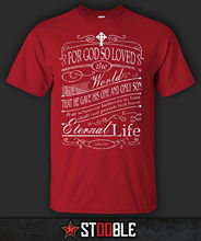 John 3:16 Bible T-Shirt - Direct from Stockist New T Shirts Funny Tops Tee Unisex  High Quality Casual Printing