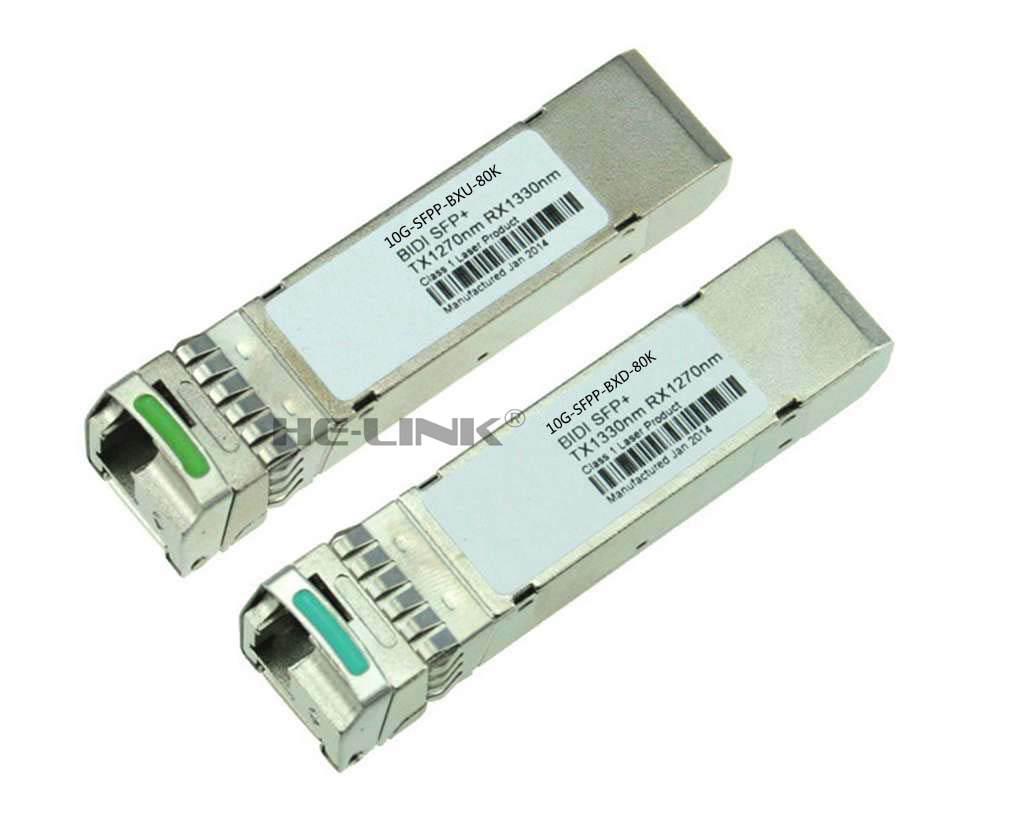 LODFIBER 10G-SFPP-BXU-80K/10G-SFPP-BXD-80K BRO-CA-DE Compatible Pair of BiDi SFP 10G 80km TransceiverLODFIBER 10G-SFPP-BXU-80K/10G-SFPP-BXD-80K BRO-CA-DE Compatible Pair of BiDi SFP 10G 80km Transceiver