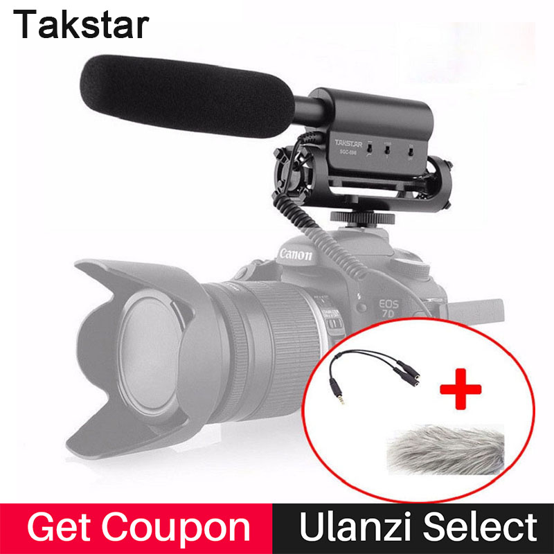 Takstar SGC-598 Photography Interview Microphone for Youtube Vlogging Video Shotgun MIC for Nikon Canon DSLR microphone sgc 598 for hp 920 ink cartridge for hp920 920xl officejet 6000 6500 wireless 6500a 7000 7500 7500a printer