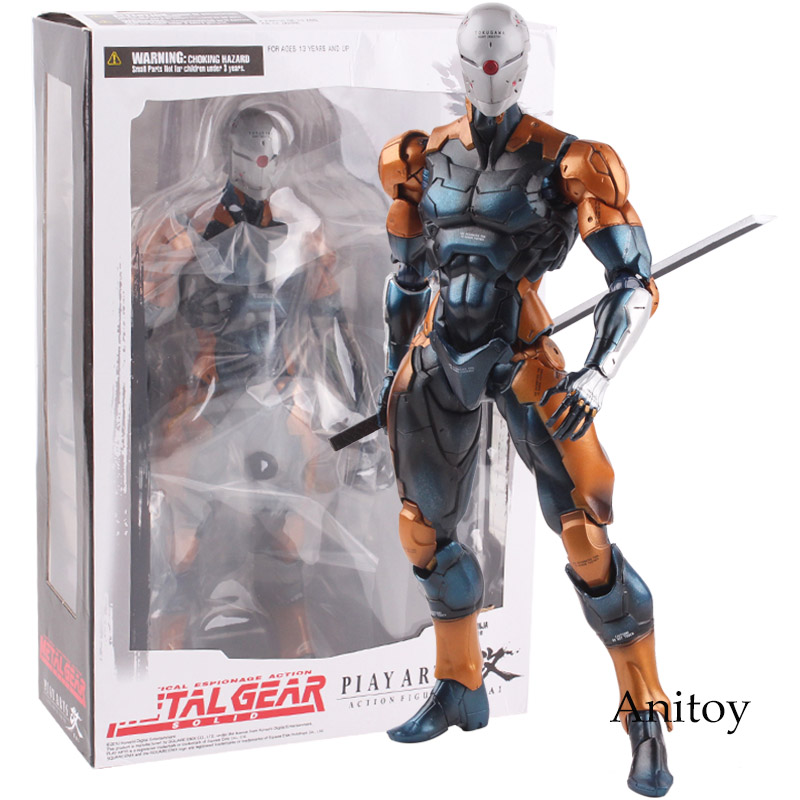 Play Arts Kai Metal Gear Solid Cyborg Ninja Gray Fox PVC Tactical Espionage Action Figure Collectible Model Toy 26cm play arts kai metal gear solid cyborg ninja gray fox game pvc action figure resin collection model toy gifts