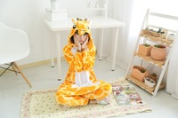 New Unisex Adult Flannel Pajamas Animal Pyjama Suits Cosplay Adult Winter Garment Cute Cartoon Animal Pajama