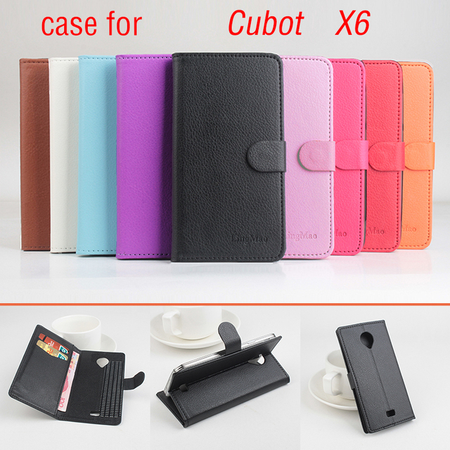 Litchi For Cubot X6 Case cover, Good Quality New Leather Case + Hard Back Cover For Cubot X6 X 6 Cellphone Phone Case Cover