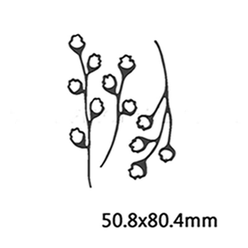 Васильковые травы эвкалиптовая ветка цветы металлические Вырубные штампы для поделок скрапбукинга бумажные открытки, декоративные поделки новые штампы - Цвет: Picture 4