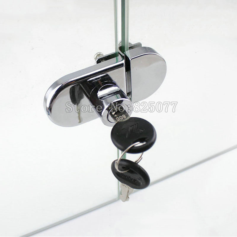 10set Display Cabinet Locks Double Glass Door Lock Showcase Locks Glass Cabinet Door Locks For 5