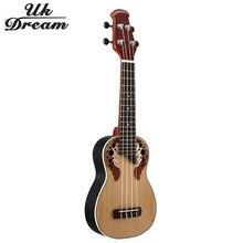 21 inch Ukulele 4 String Musical Instruments Professional Picea Asperata Closed Knob Guitar ukelele Mini Guitarra Uk Dream US-Z1