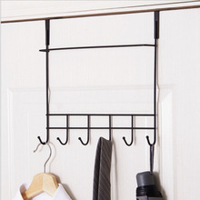 Luxury 6 Hooks Hanger Towel Hat Coat Clothes Wall Hook Over Door Bathroom Door Hooks