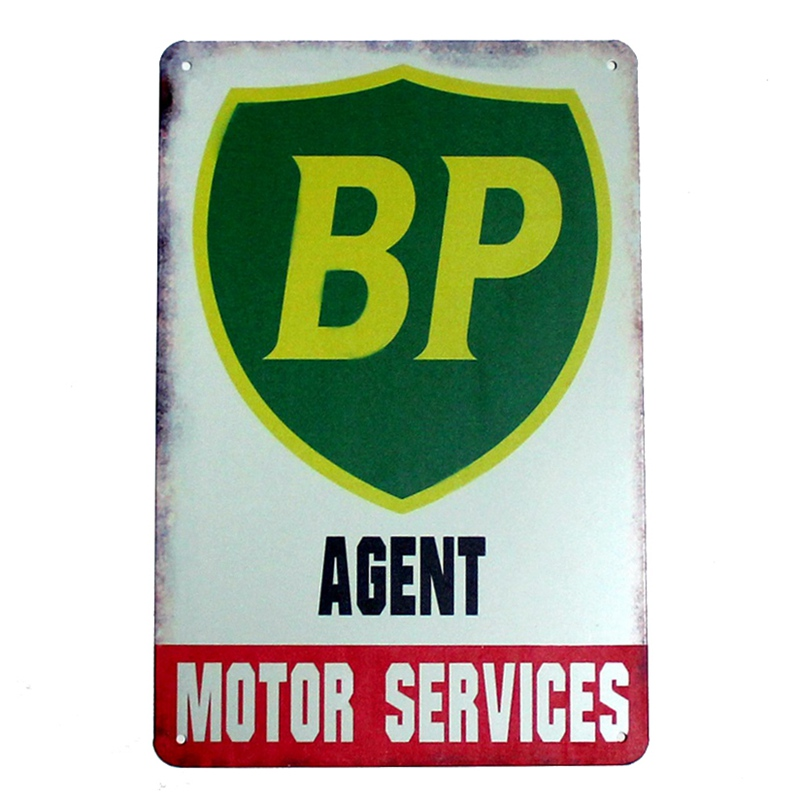 BP agent motor services! tin signs vintage metal plate iron picture the wall decoration for bar home cafe garage