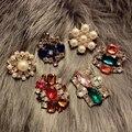 Famosa marca coreana Retro exagerada lindo casaco de cor broche pin feminino jóias presente namorada Retro royal palace festa