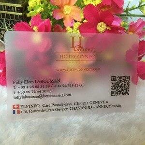 Image 3 - 사용자 정의 명함 사용자 정의 프로스트 투명 플라스틱 명함 인쇄 강하고 방수 이름/방문 카드