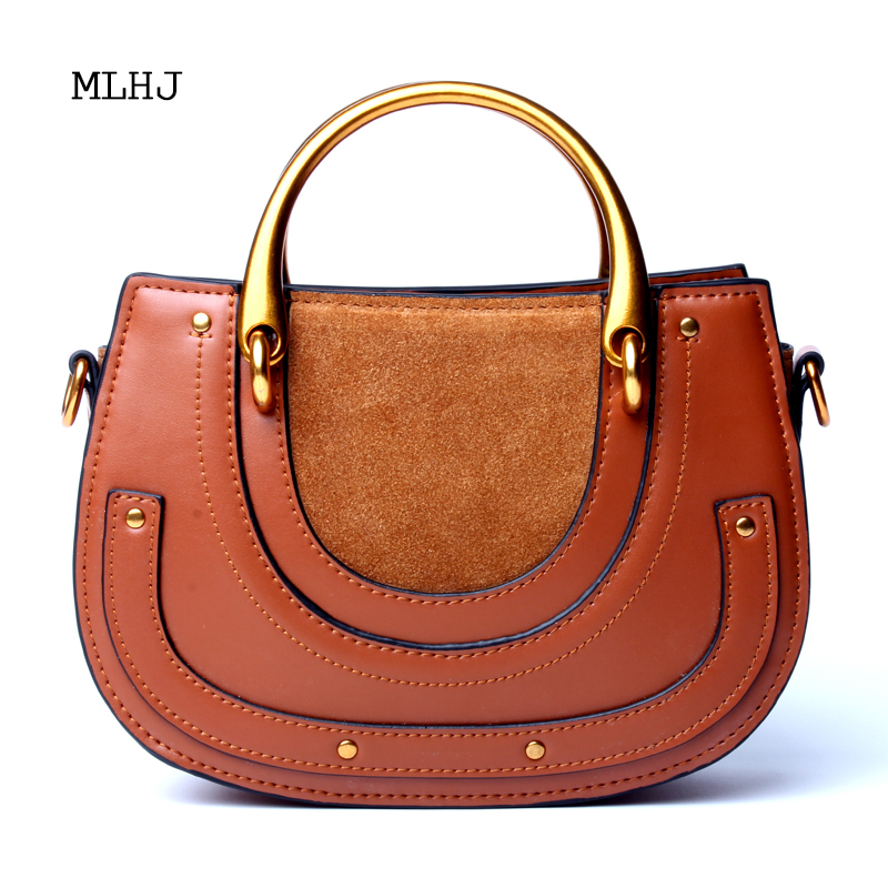 69c865d1ccc MLHJ bags for women 2018 New retro saddle bag leather suede ring purses and handbags  crossbody bags for women | Fancy Bag Lady
