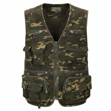 2017 men vest All-purpose Multi Pocket Camouflage Vest Men Casual Travel Waistcoat Sleeveless Jacket Camo Photography Vests  a24