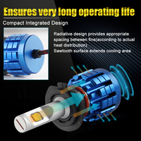 bulb 12v BraveWay Car LED Lights H1 LED Bulb for Auto H4 H8 H9 H11 HB3 HB4 9005 9006 H7 LED Canbus Headlights H4 12V Lamps 20000LM 6500K (3)