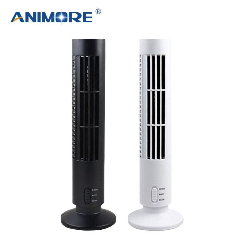 купить ANIMORE Portable USB Bladeless Fan Air Cooler Air Conditioner Mini Cooling Fan High Grade Plastic Power-saving Desk Tower FA-13 по цене 784.83 рублей