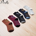 New Arrival Printed thunderstorm cotton men happy socks color brand designer casual novelty dress high quality 5 paris/lot