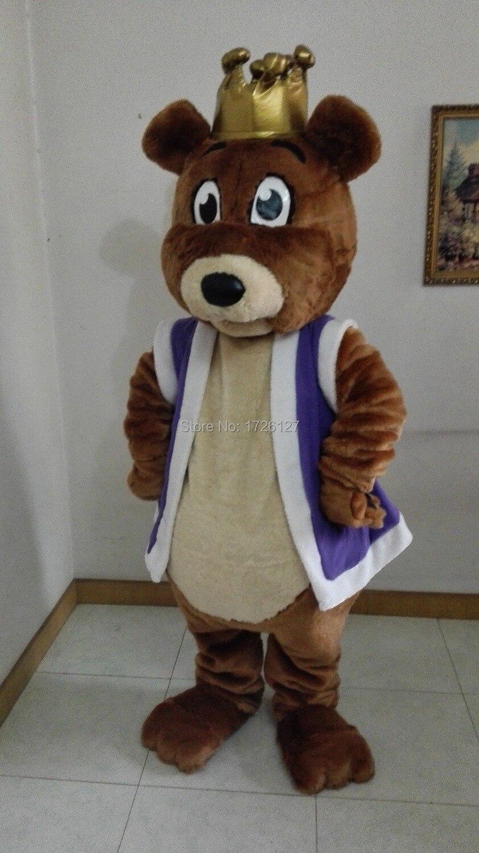 plush bear mascot bear crown costume cartoon character cosplay wholesale cosplay carnival costume fancy dress mascotte costumes