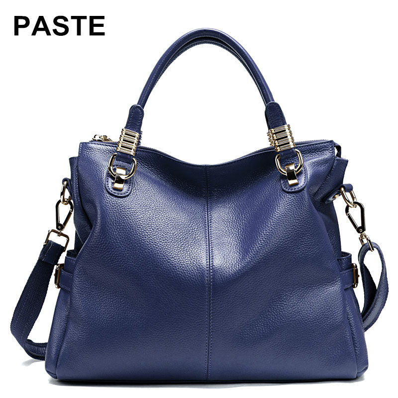 Soft genuine Leather large capacity Handbags Ladies Crossbody Bag women Shoulder Bags Female Tote Sac A Main luxury Brand bolsos luxury handbags women bags designer brand famous scrub ladies shoulder bag velvet bag female 2017 sac a main tote