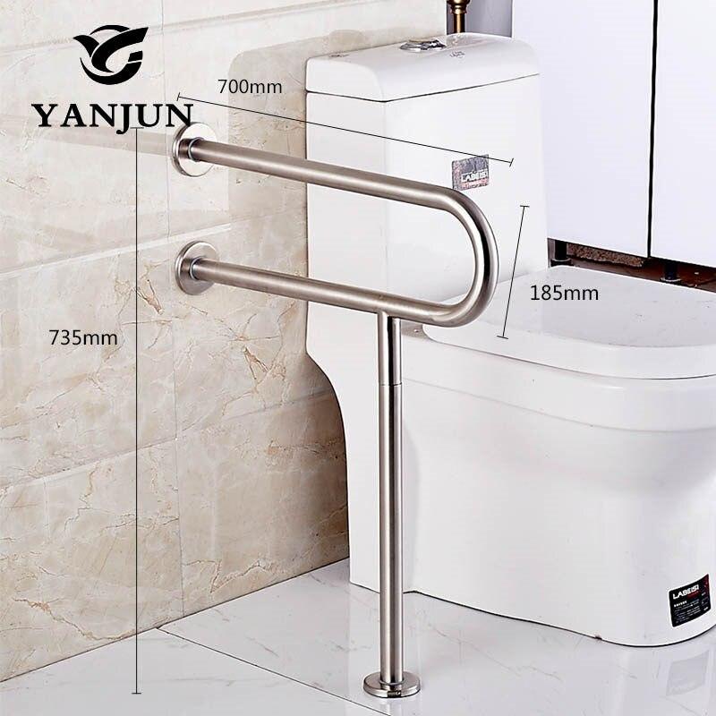 Yanjun нержавеющая сталь инвалидность поручень поддержка Ручка Бар Ванная комната безопасности помощи поручень сталь YJ-2008 - Цвет: 70CM