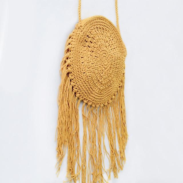 Модные летние Ретро Вязание Портмоне женские сумки Лен кисточки маленький мешочек сумки милые девушки клатч Сумки через плечо BA155