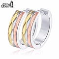 Effie Queen Fashion Jewelry Colorful Men Earrings 316L Stainless Steel Women Small Hoop Earrings Gift for Girls Party IE40