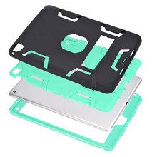 For iPad Air2 Shockproof Heavy Duty Rubber With Hard Stand Case Cover For Apple iPad Air 2 /w Screen Protector Film Stylus Pen