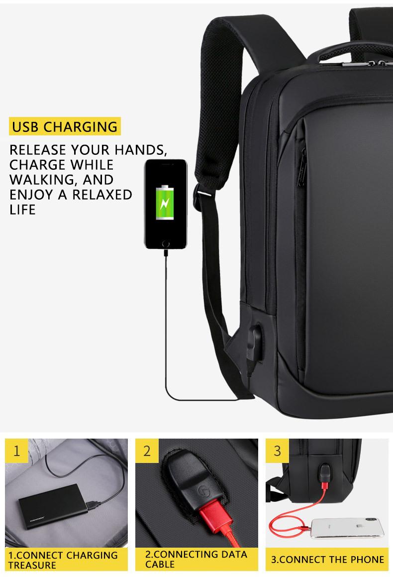 HTB10mjkNZbpK1RjSZFyq6x qFXab - 2019 Mens USB Charging Backpack 14 - 15.6 inch Laptop Bags