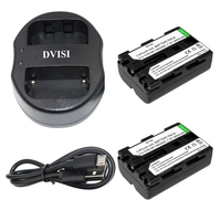 2pcs 1 8Ah NP FM500H Repaceable Camera Battery With USB Dual Charger For Sony A57 A65
