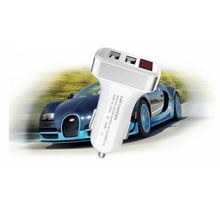 Digital DC Voltmeter Dual USB Port Car Charger for iPhone iPad Charging Adapter 2.1A Car-charger Double USB Voltage Detector