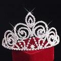 Mulheres Grandes de Cristal Flor Da Tiara Da Coroa Hairbands Casamento Jóias Tiara De Noiva Coroa de Strass Acessórios Para o Cabelo