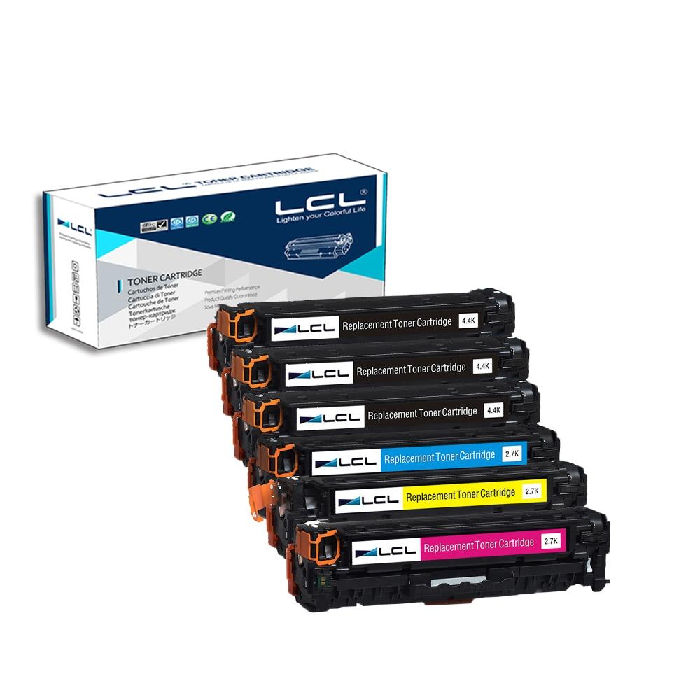 LCL 312X 312A CF380X CF380A CF381A CF382A CF383A (6-Pack) Toner Cartridge Compatible for HP Color LaserJet Pro M476dn MFP 4x cf380a cf381a cf382a cf383a 312a compatible color toner cartridge for hp laserjet pro mfp m476dw m476nw cf387a cf385a printer