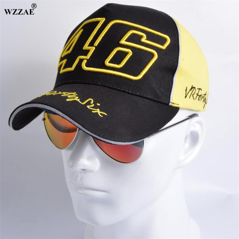 WZZAE 2018 F1 MOTO GP Rossi VR 46 Motorcycle Gorras Men Racing Bone Caps VR46 Baseball Cap Hat Fashion Snapback Casquette Hats aetrue winter beanie men knit hat skullies beanies winter hats for men women caps warm baggy gorras bonnet fashion cap hat 2017