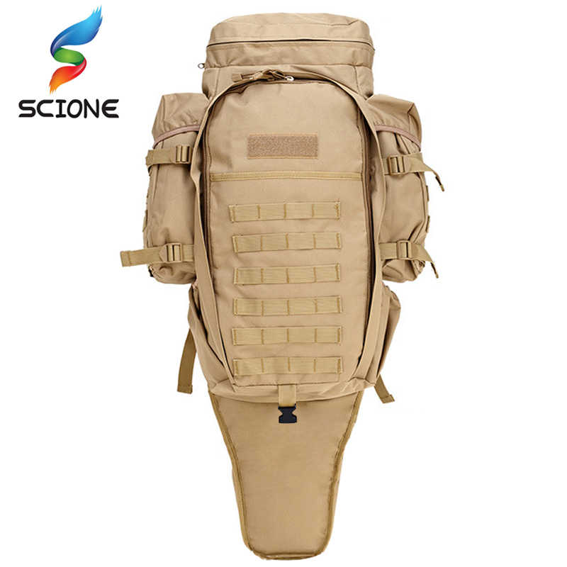 Hot 60L Outdoor Waterproof Military Backpack Pack Rucksack Tactical Bag For Hunting Shooting Camping Trekking Hiking Traveling